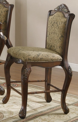 Andrea Traditional Upholstered Bar Stool - Set of 2 - 103119