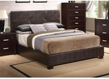 Andreas Bed with Vinyl Padded Headboard - 202470Q