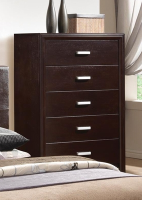 Andreas Drawer Chest in Cappuccino Brown - 202475