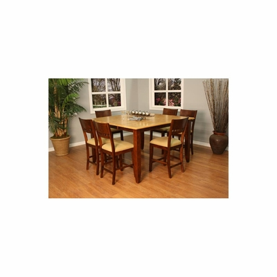 Andria 7pc Counter Height Table Set - American Hertiage - AH-713632