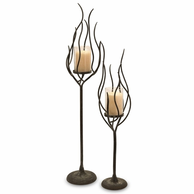 Anemone Candle Holder (Set of 2) - IMAX - 56334-2