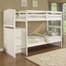 "Angelica ""White"" Arch Spindle Chest End Step Twin/Twin Bunk Bed - Powell Furniture - 929-037"