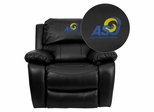 Angelo State University Rams Black Leather Rocker Recliner - MEN-DA3439-91-BK-41003-EMB-GG