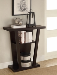 Angled Cappuccino Entry Table in Cappuccino - 950136