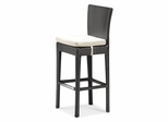 Anguilla Bar Outdoor Bar Chair in Chocolate - Zuo Modern - 701142