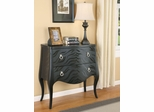 Animal Print Accent Cabinet in Black - 950085