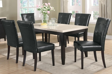 Anisa 7PC Dining Table and Chairs Set in Cappuccino - 102771