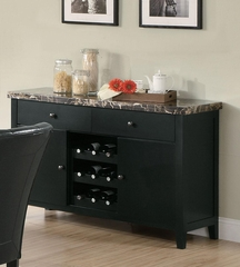 Anisa Dining Server with Black Marble Top - 102795