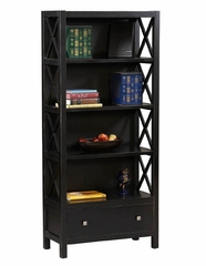 Anna 5 Shelf Bookcase - Linon Furniture - 86103C124-KD-U