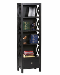 Anna Tall Narrow 5-Shelf Bookcase - Linon Furniture - 86102C124-KD-U