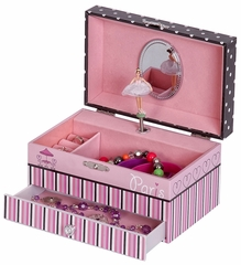 Annabelle Parisian Poodle Girl's Musical Ballerina Jewelry Box - 00718S13