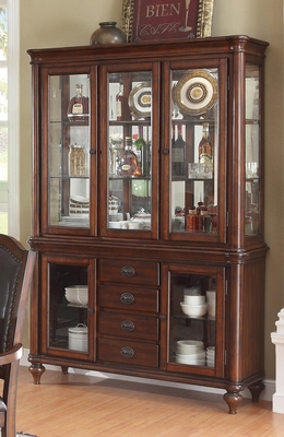 Anson Transitional China Cabinet with Five Glass Doors - 103464