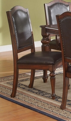 Anson Transitional Side Chair with Black Upholstery - Set of 2 - 103462