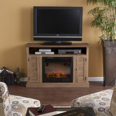 Antebellum Media Weathered Oak Fireplace - Holly and Martin