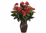 Anthurium with Vase Silk Plant - Nearly Natural - 6666