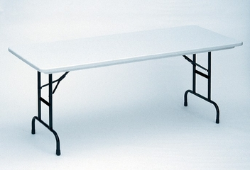 ANTI-MICROBIAL 30x72 Blow Molded Adjustable Height Folding Table with Short leg - Correll Office Furniture - RA3072-AM-SHORT
