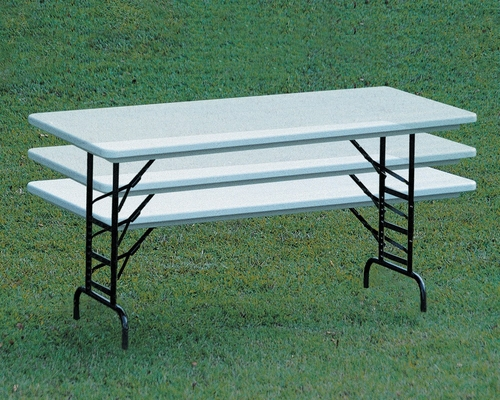 ANTI-MICROBIAL 30x72 Blow Molded Adjustable Height Folding Table with Standard leg - Correll Office Furniture - RA3072-AM-STANDARD