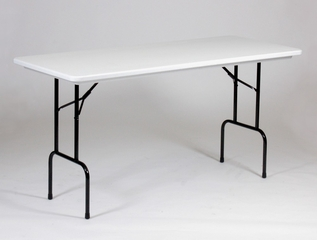 ANTI-MICROBIAL 30x72 Blow Molded Counter Height Folding Table - Correll Office Furniture - RS3072-AM