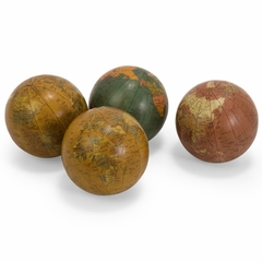 "Antique Finish Globe 4"" Spheres (Set of 4) - IMAX - 5555-4"