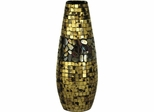 Antique Gold Art Glass Vase - Dale Tiffany