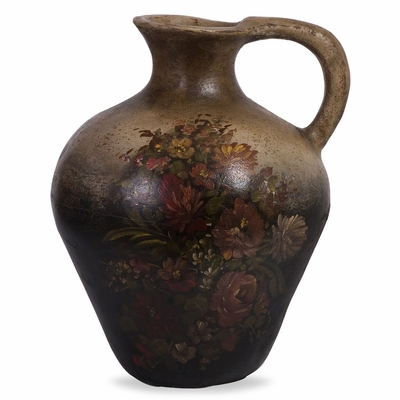 Antique Handled Jar de la Flor - IMAX - 6857
