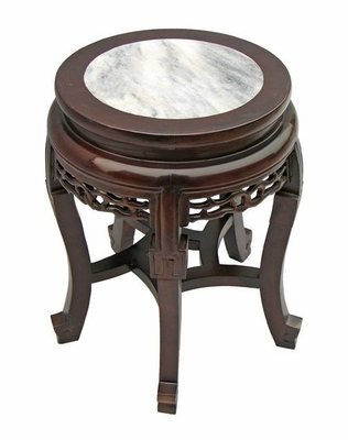 Antique Style End / Accent Table with Marble Top - frc1032