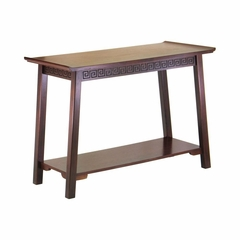 Antique Walnut Console Table - Winsome Trading - 94741
