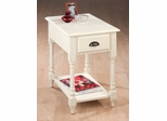 Antique White Rectangular Chairside Table - 1029-7