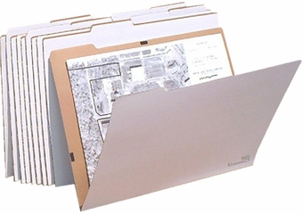 AOS VFOLDER25 Flat Storage File Folders - Package of 10