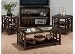 Apex Dark Brown Lattice 4-Piece Livingroom Table Set - 754-1