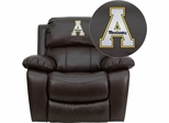 Appalachian State Mountaineers Brown Leather Rocker Recliner - MEN-DA3439-91-BRN-45000-A-EMB-GG