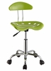 Apple Green and Chrome Adjustable Height Rolling Chair (Set of 2) - Powell Furniture - 206-257-SET