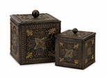 Arabian Nights Lidded Boxes (Set of 2) - IMAX - 12338-2
