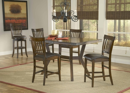 Arbor Hill 5-Piece Counter Height Dining Set in Colonial Chestnut - Hillsdale Furniture - 4232GTBS