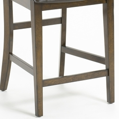 Arbor Hill Non-Swivel Counter Stools (Set of 2) in Colonial Chestnut - Hillsdale Furniture - 4232-822