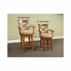 Arbors Swivel Stool Tobacco - Largo - LARGO-ST-D572-2X