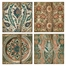 Arcadelt Wall Tiles (Set of 4) - IMAX - 27653-4