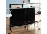 Arched Black Bar Unit with Frosted Glass Counter - 100139