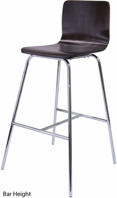 Archer Counter / Bar Height Stool, Chrome Leg
