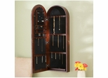 Arden Wall Mount Jewelry Armoire in Dark Cherry - Holly and Martin