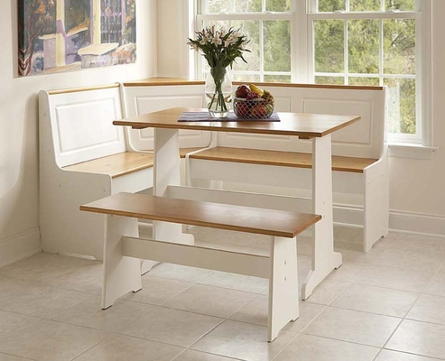 Ardmore Nook White with Pine Accents - Linon Furniture - 90305WHT-KD-U