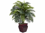Areca with Decorative Planter Silk Plant - Nearly Natural - 6686