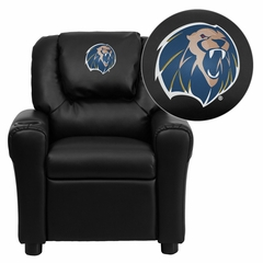 Arkansas Fort Smith Lions Embroidered Black Vinyl Kids Recliner - DG-ULT-KID-BK-41080-EMB-GG