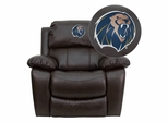 Arkansas Fort Smith Lions Leather Rocker Recliner - MEN-DA3439-91-BRN-41080-EMB-GG