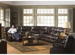 Arlington Reclining Sectional in Mahogany - Catnapper