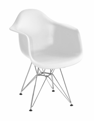 Arm Chair in White - DC-311G-WHT