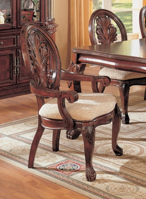Arm Chair (Set of 2) in Cherry - Coaster - COAST-11010331-SET