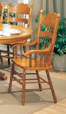 Arm Chair (Set of 2) in Oak - Coaster