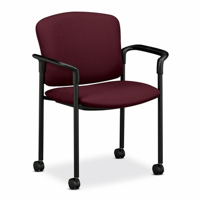 Arm Guest Chair - Wine 2 Count- HON4075NT69T