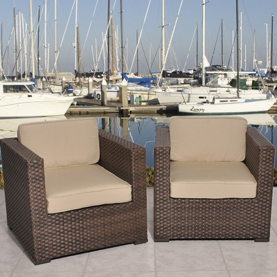 Armchair Set - Bellagio Armchair 2-Piece Set Deluxe - PLI-BELLARMSET-SBG